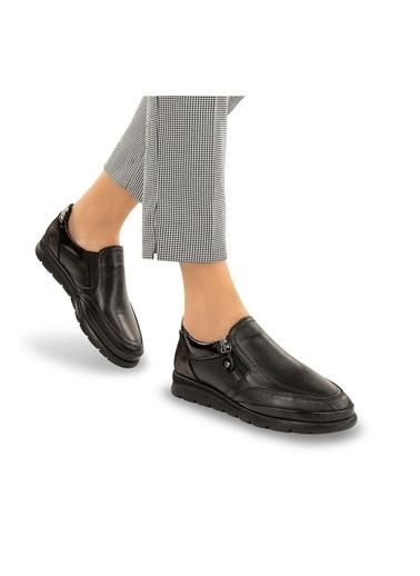 Muya Nelda Anatomik Taban Hakiki Deri Kadın Ayakkabı Siyah